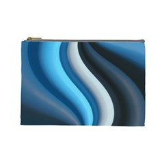 Abstract Pattern Lines Wave Cosmetic Bag (large)  by Nexatart
