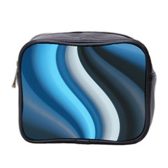 Abstract Pattern Lines Wave Mini Toiletries Bag 2 Side by Nexatart