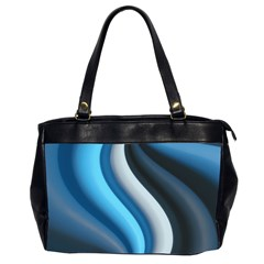Abstract Pattern Lines Wave Office Handbags (2 Sides)  by Nexatart