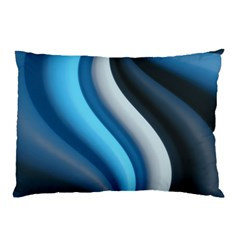 Abstract Pattern Lines Wave Pillow Case (two Sides) by Nexatart