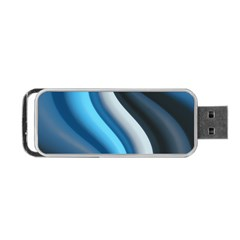 Abstract Pattern Lines Wave Portable Usb Flash (two Sides) by Nexatart