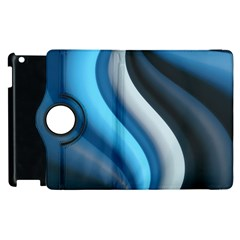 Abstract Pattern Lines Wave Apple Ipad 3/4 Flip 360 Case by Nexatart