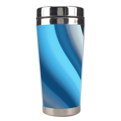 Abstract Pattern Lines Wave Stainless Steel Travel Tumblers