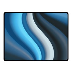 Abstract Pattern Lines Wave Double Sided Fleece Blanket (small)