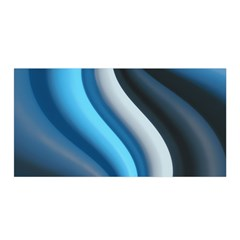 Abstract Pattern Lines Wave Satin Wrap by Nexatart