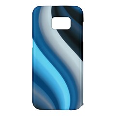 Abstract Pattern Lines Wave Samsung Galaxy S7 Edge Hardshell Case by Nexatart