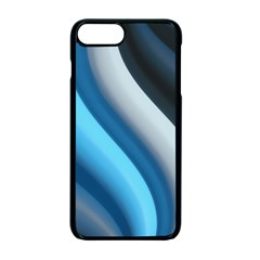 Abstract Pattern Lines Wave Apple Iphone 7 Plus Seamless Case (black) by Nexatart