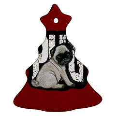 Pug Ornament (christmas Tree)  by Valentinaart