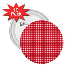 Pattern Diamonds Box Red 2 25  Buttons (10 Pack)  by Nexatart