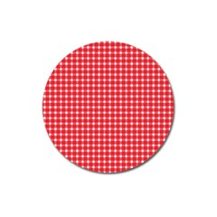 Pattern Diamonds Box Red Magnet 3  (round) by Nexatart
