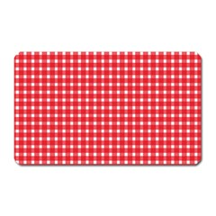Pattern Diamonds Box Red Magnet (rectangular)