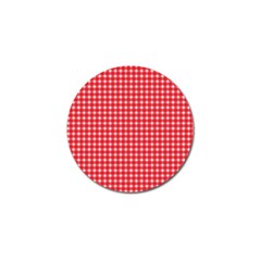 Pattern Diamonds Box Red Golf Ball Marker (4 Pack) by Nexatart