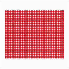 Pattern Diamonds Box Red Small Glasses Cloth