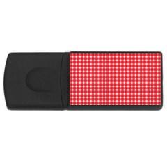 Pattern Diamonds Box Red Usb Flash Drive Rectangular (4 Gb)