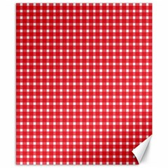 Pattern Diamonds Box Red Canvas 8  X 10
