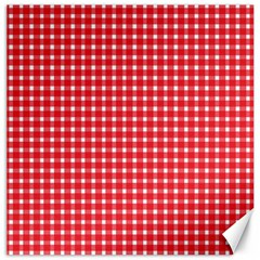 Pattern Diamonds Box Red Canvas 20  X 20