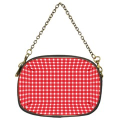 Pattern Diamonds Box Red Chain Purses (two Sides)