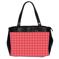 Pattern Diamonds Box Red Office Handbags (2 Sides)