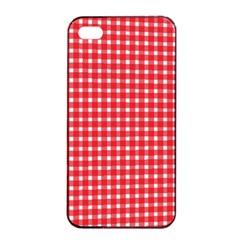 Pattern Diamonds Box Red Apple Iphone 4/4s Seamless Case (black)