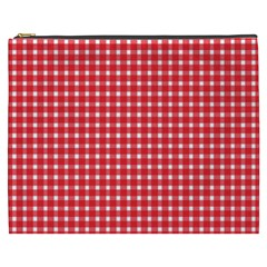 Pattern Diamonds Box Red Cosmetic Bag (xxxl)