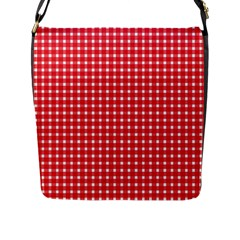 Pattern Diamonds Box Red Flap Messenger Bag (l)  by Nexatart
