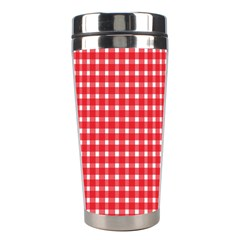 Pattern Diamonds Box Red Stainless Steel Travel Tumblers