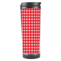 Pattern Diamonds Box Red Travel Tumbler by Nexatart