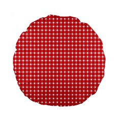 Pattern Diamonds Box Red Standard 15  Premium Flano Round Cushions by Nexatart