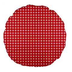 Pattern Diamonds Box Red Large 18  Premium Flano Round Cushions