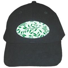 Leaves Foliage Green Wallpaper Black Cap by Nexatart