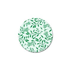 Leaves Foliage Green Wallpaper Golf Ball Marker by Nexatart