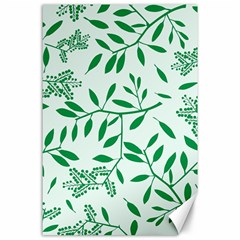 Leaves Foliage Green Wallpaper Canvas 24  X 36  by Nexatart