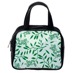 Leaves Foliage Green Wallpaper Classic Handbags (one Side)