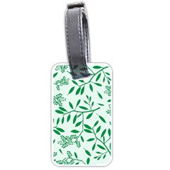 Leaves Foliage Green Wallpaper Luggage Tags (one Side)  by Nexatart