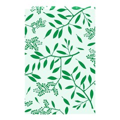 Leaves Foliage Green Wallpaper Shower Curtain 48  X 72  (small)  by Nexatart