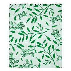 Leaves Foliage Green Wallpaper Shower Curtain 60  X 72  (medium)  by Nexatart