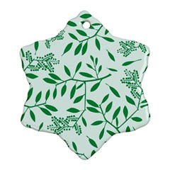 Leaves Foliage Green Wallpaper Ornament (snowflake)