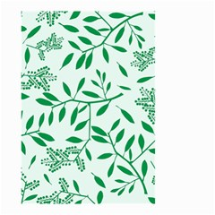Leaves Foliage Green Wallpaper Small Garden Flag (two Sides) by Nexatart