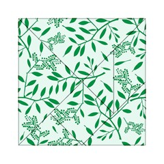 Leaves Foliage Green Wallpaper Acrylic Tangram Puzzle (6  X 6 ) by Nexatart