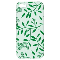 Leaves Foliage Green Wallpaper Apple Iphone 5 Hardshell Case
