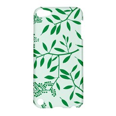 Leaves Foliage Green Wallpaper Apple Ipod Touch 5 Hardshell Case by Nexatart