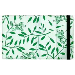 Leaves Foliage Green Wallpaper Apple Ipad 3/4 Flip Case by Nexatart