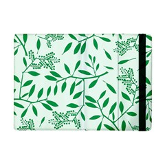 Leaves Foliage Green Wallpaper Apple Ipad Mini Flip Case by Nexatart