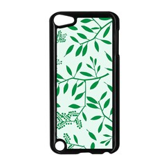 Leaves Foliage Green Wallpaper Apple Ipod Touch 5 Case (black) by Nexatart