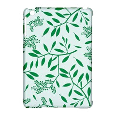 Leaves Foliage Green Wallpaper Apple Ipad Mini Hardshell Case (compatible With Smart Cover) by Nexatart