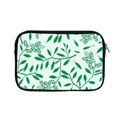 Leaves Foliage Green Wallpaper Apple Ipad Mini Zipper Cases by Nexatart