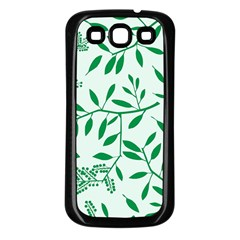 Leaves Foliage Green Wallpaper Samsung Galaxy S3 Back Case (black)