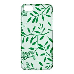 Leaves Foliage Green Wallpaper Apple Iphone 5c Hardshell Case by Nexatart