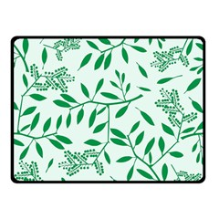 Leaves Foliage Green Wallpaper Double Sided Fleece Blanket (small)  by Nexatart