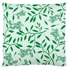 Leaves Foliage Green Wallpaper Large Flano Cushion Case (one Side) by Nexatart